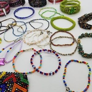 Huge Lot Seed Bead Bracelets and Bracelet Cuffs